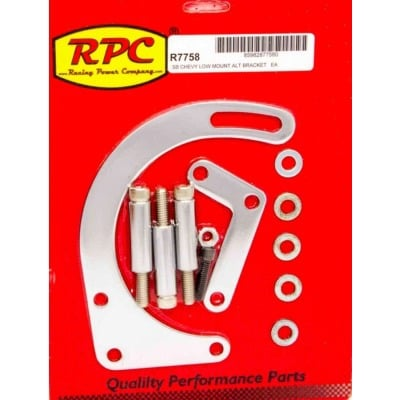 RPC Chrome Alternator Bracket Small Block Chevy