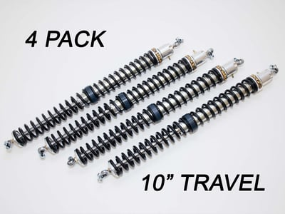 "2.25"" - 10"" Travel (4) Shock & Spring Packages"