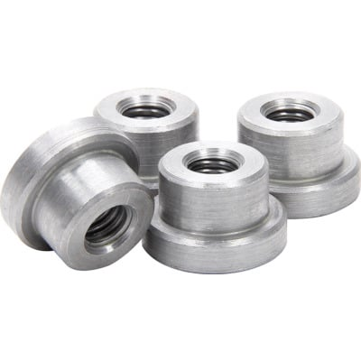 "Allstar Performance Weld-On Nut 3/8""-16 x 3/8"" UHL - 4 Pack"
