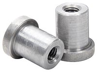 "Allstar Performance Weld-On Nut 3/8""-16 x 7/8"" UHL - 25 Pack"
