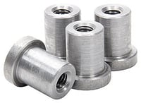 "Allstar Performance Weld-On Nut 3/8""-16 x 7/8"" UHL - 4 Pack"