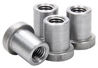 "Allstar Performance Weld-On Nut 1/2""-13 x 7/8"" UHL - 4 Pack"